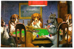 Dogs-Playing-Poker-1903-C-M-Coolidge-Woven-Floor-Mat